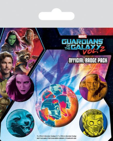 Guardians of the Galaxy Vol. 2 Cosmic Badge Pack